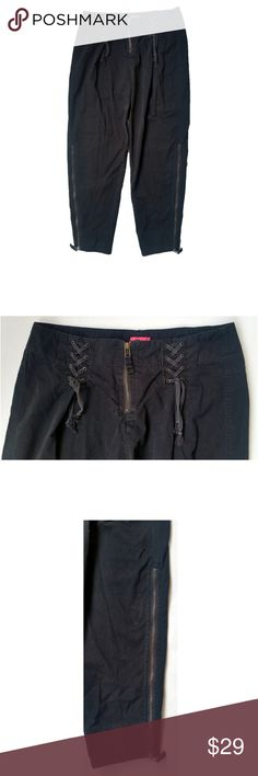 68cf53cedc1e7 MNG by Mango Black High Waisted Capris Sz 6 30X27 Tag Size: 6 Measurements:
