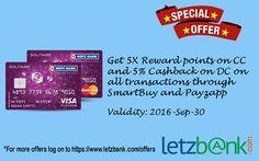 Make your transactions through #smartBuy , #Payzapp and get 5X #rewardpoints on #creditcard & 5% cashback on #debitcard. For more details on the #Offer visit letzbank.com/offers