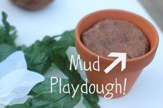 Mud Play dough garden play ideas
