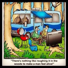 Nothing quite like roughing it! #RV #camp #tech #camping