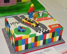 And This Lego Cake From Novelty Birthday Cakes Pretty Stinkin Lego Themed Party, Lego Birthday Party, Boy Birthday, Birthday Ideas, Car Party, Happy Birthday, Novelty Birthday Cakes, Themed Birthday Cakes, Lego City