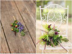 Artichoke bouquet and herb boutonniere #FarmtoTable