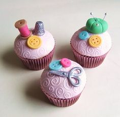 Oh so cute!  Sewing cakes