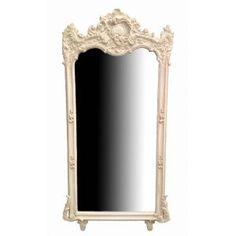 Grand Baroque beige patina rectangular mirror