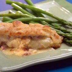 Ham & Cheese Stuffed Chicken Breasts  This was really good--like chicken cordon bleu but easier to make (I'm guessing.. I've never made chicken cordon bleu).