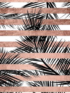 rose gold wallpaper backgrounds - Trendy tropical palm trees chic rose gold stripes' iPhone Case by GirlyTrend Palm Tree Iphone Wallpaper, Rose Gold Wallpaper, Free Iphone Wallpaper, Tumblr Wallpaper, Cool Wallpaper, Wallpaper Backgrounds, Iphone Wallpapers, Glitter Wallpaper, Iphone Backgrounds