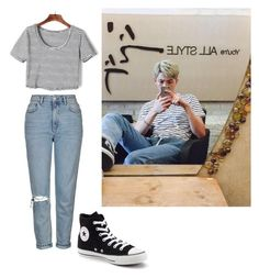 Namjoon ootd by nataliejohnson688 on Polyvore featuring polyvore, Topshop, Converse, fashion, style and clothing