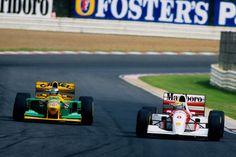 Schumacher , Senna  Kyalami 1993