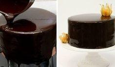 How To Make Chocolate Mirror Glaze. Shiny chocolate glaze recipe easy to make at home. Shiny Chocolate Glaze Recipe, Chocolate Mirror Glaze, Chocolate Recipes, Food Cakes, Cupcake Cakes, Chocolate Fudge Brownies, Chocolate Chip Cheesecake, Brownie Cake, Chocolate Chips