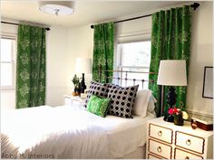 Master Bedroom: the evolution of a room: nightstands from Abby M. Interiors