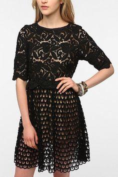 TBA Lena Crochet Overlay Dress