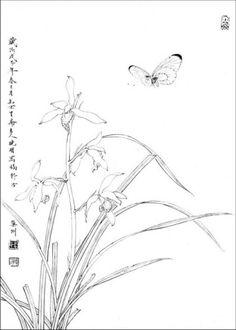 목단외 백묘 : 네이버 블로그 Floral Illustrations, Pencil Illustration, Chinese Painting, Chinese Art, Chinese Wallpaper, Chinese Embroidery, Tibetan Art, Architecture Collage, Ink Painting
