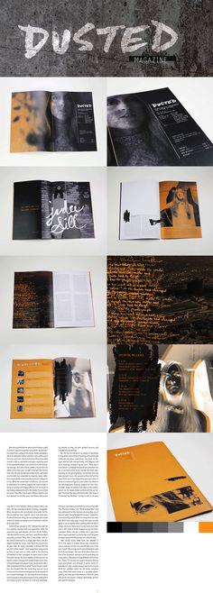 Magazine Design and Branding for Dusted Magazine, Designed by Odd 0 Design Magazine Design, Branding, Graphic Design, Poster, Art, Art Background, Brand Management, Kunst, Brand Identity