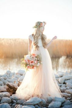 Wedding and Bridal Inspiration for the modern bride. Wedding Bells, Boho Wedding, Dream Wedding, Wedding Day, Tulle Wedding, Kauai Wedding, Wedding Shot, Backless Wedding, Wedding Images