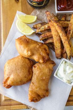 "Hard Cider-Battered Fish n' ""Oven"" Chips (recipe) / by The Cozy Apron"