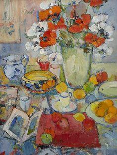 2009 Peter McLaren (Scottish, 1964) ~ Still Life with Clarice Cliff Bowl