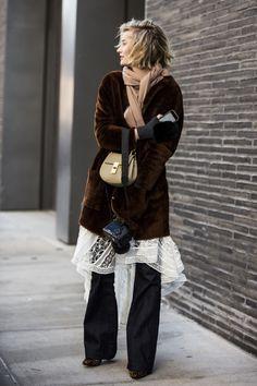 Zanita Whittington at New York Fashion Week, Day 2, February 2015.