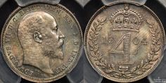 Great Britain 1904 Maundy 4d PCGS PL64 #coins #greatbritaincoins