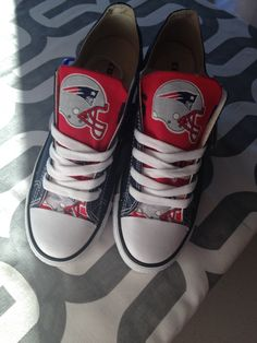 8c50710b084d57 Get your New England Patriots Custom Converse.