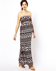 New Look Maternity Belted Bandeau Maxi Dress