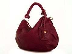 vegan leather bag purse burgundy -  the Kasey - new collection.