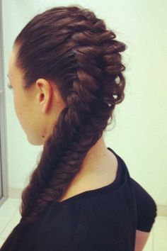 Thick, french fishtail, this makes me miss my long hair
