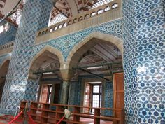 Rustem Pasha Mosque (designed by the same Ottoman architect who developed the Blue Mosque, near the SPice Bazaar) - Istanbul, Turkey