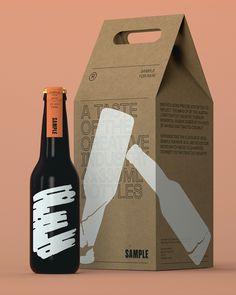 Beer Packaging- Branding & Design - Curated by Designsquare Food Packaging Design, Coffee Packaging, Bottle Packaging, Packaging Design Inspiration, Brand Packaging, Branding Design, Craft Beer Brands, Label Design, Package Design
