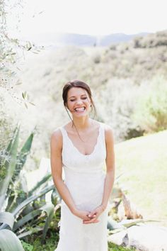 a happy Bride is a gorgeous Bride |  Photography by marissamaharaj.com  Read more - http://www.stylemepretty.com/2013/06/25/tuscany-wedding-from-maharaj-photography/
