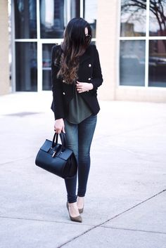 Capsule Wardrobe Series - The Classic Blazer.  Find out some of my favorite ways to style a blazer, and where to find this gorgeous blazer, that looks exactly like the iconic Balmain Blazer, for under $100!