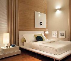 A iluminação é o segredo de cada ambiente. O quarto, por exemplo deve ter camadas de materiais que valorizem o aconchego permitindo que a luz faça o seu trabalho.