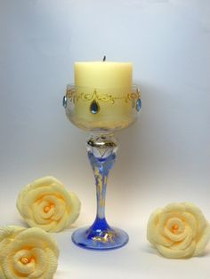 Romantic Glass Candlestick Wedding Decoration by InspirellaDesign