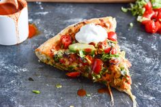 Chicken Enchilada Pizza.