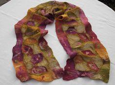yummy nuno felted scarf