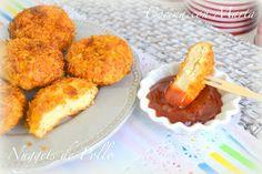 Nuggets de pollo caseros, con Corn Flakes y al horno.
