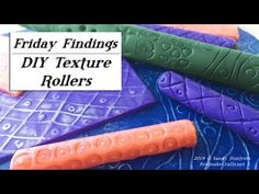 Learn how to make your own unique texture rollers. They're like Kor rollers, but your personal designs! Consider becoming a patron and get bo. Clay Extruder, Clay Classes, Keepsake Crafts, Clay Videos, Make Your Own, Make It Yourself, Clay Texture, Clay Tools, Play Clay