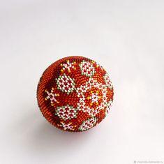"""Купить """"Елочный шарик""""Красное кружево"""". Набор для вязания бисером в интернет магазине на Ярмарке Мастеров"""