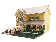 Contemporary Family Home - 01 - Cool & Amusing Stuff - Lego Lego Furniture, Minecraft Furniture, Lego Boards, Lego For Kids, Lego Modular, Cool Lego Creations, Lego Storage, Lego Design, Lego Projects
