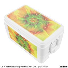 On A Hot Summer Day Abstract And Colorful Fractal Chest Cooler