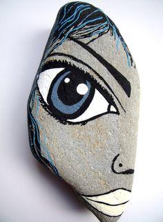 Painted pebble art