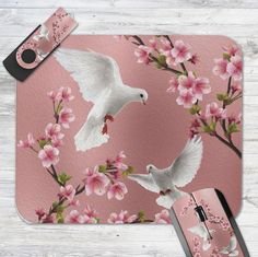 Shop Pink Vintage Style Doves & Cherry Blossom Mouse Pad created by Beautiful_Gifts. Vintage Pink, Vintage Style, Vintage Fashion, Bird Patterns, Custom Mouse Pads, Beautiful Gifts, Cherry Blossoms, Create, Design