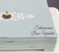 silverware box update, chalk paint, crafts, home decor, painted furniture, repurposing upcycling