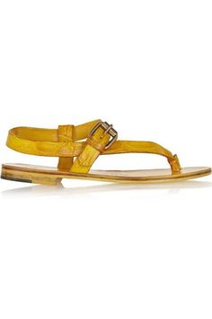 ÁLVARO GONZÁLEZ WOMAN CROCODILE SANDALS YELLOW. #álvarogonzález #shoes #