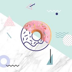#graphicdesign #donut #illustration