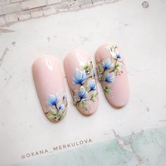 Flower Nail Designs, Flower Nail Art, Acrylic Nail Designs, Nail Art Designs, Spring Nails, Summer Nails, Karma Nails, Asian Nails, Nail Art Set