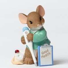 Charming Tails Mouse Figurine (Your Caring Makes Me Feel Better) 4042546+