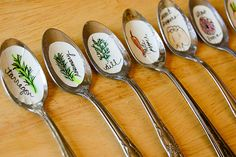 Easy DIY: Recycled Spoon Garden Markers