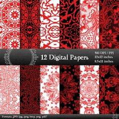 scrapbook papers LS-000103 pages digital paper digital scrapbook paper pack scrapbooking digital background scrapbooking paper 12x12 8.5 in