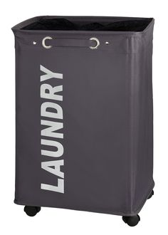 Wenko Laundry Bin Quadro, Grey: Amazon.co.uk: Kitchen & Home