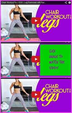 LEG workout is up! All you need is your BODYWEIGHT and a CHAIR! Who is in? CLICK THE IMAGE to view the video.